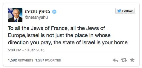 Netanyahu tweet