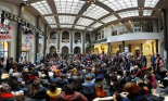 David Graeber speaks at the Maagdenhuis (by Malcolm Kratz)