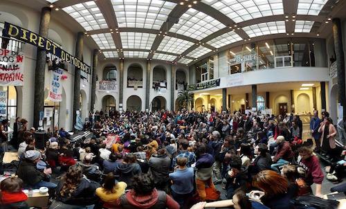 David Graeber speaks at the Maagdenhuis (by Malcolm Kratz)