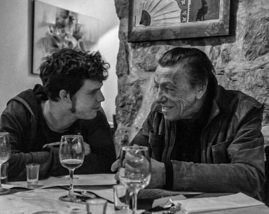 Film-maker Nicolas Drolc and retired Serge Livrozet (Emilie Salquebre)