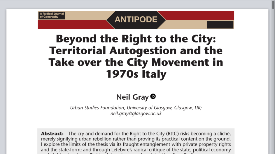 spaces of neoliberalism urban restructuring in north america and western europe antipode book